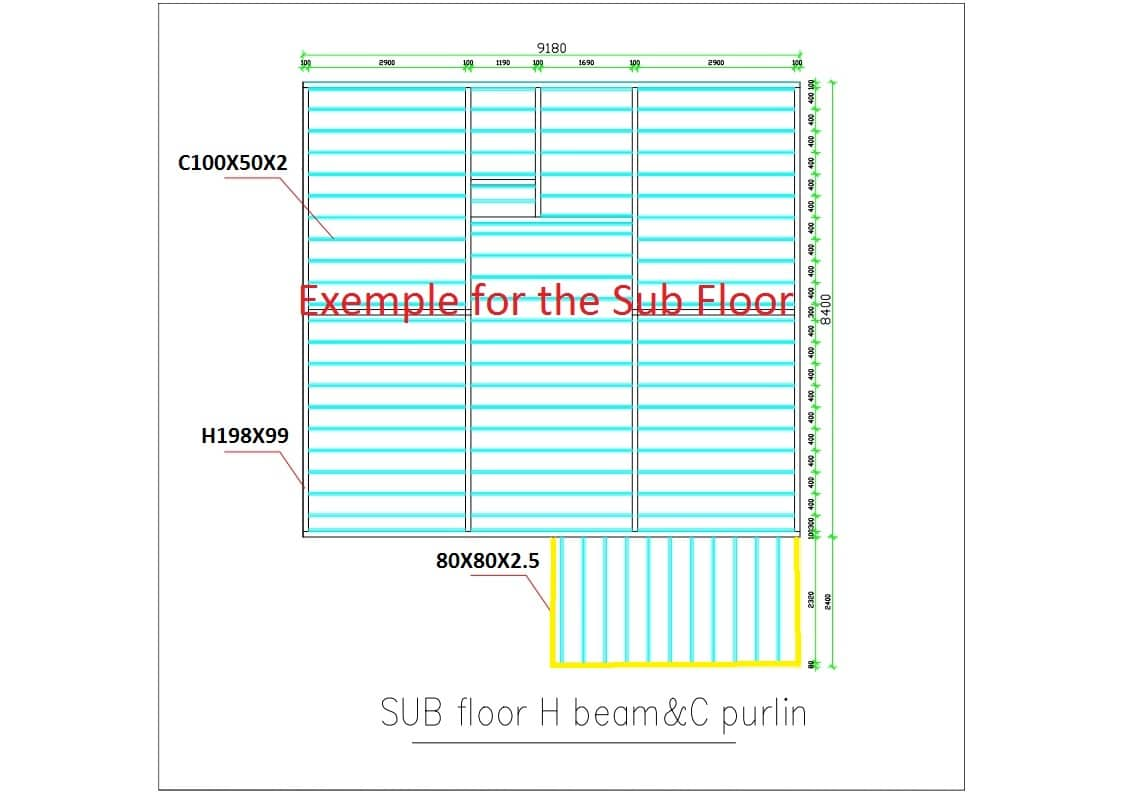 Exemple for sub floor
